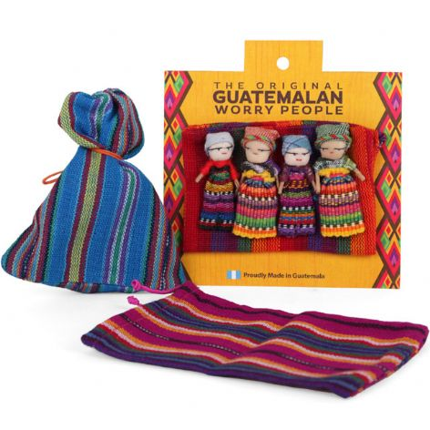 Guatemalan Worry Dolls (Large) in Pouch